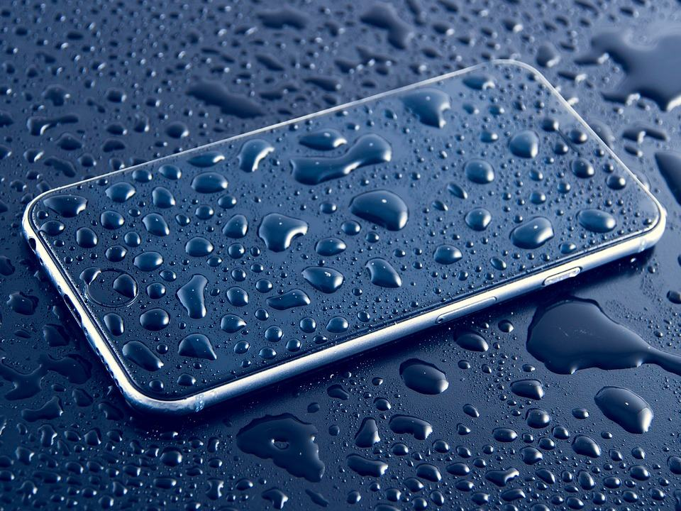 Wet black iPhone